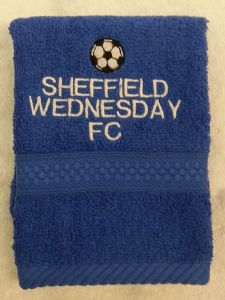 SHEFFIELD WEDNESDAY PERSONALISED FACE CLOTH
